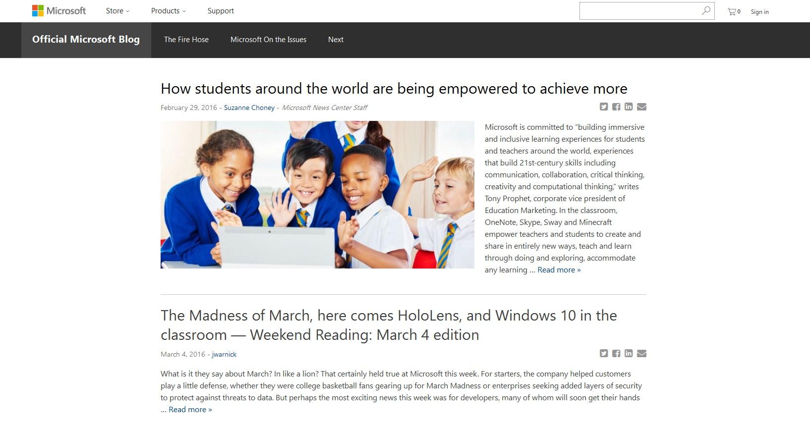 MS блог на вордпресс