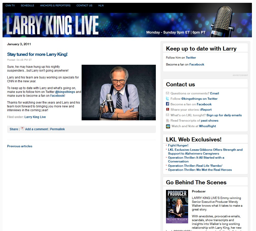 Блог Ларри Кинг