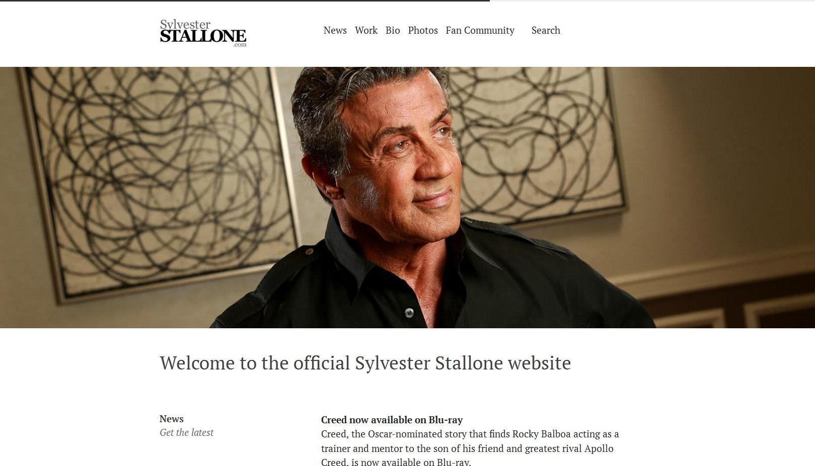 Sylvester Stallone блог