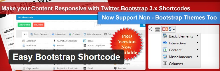 плагин Easy Bootstrap Shortcode