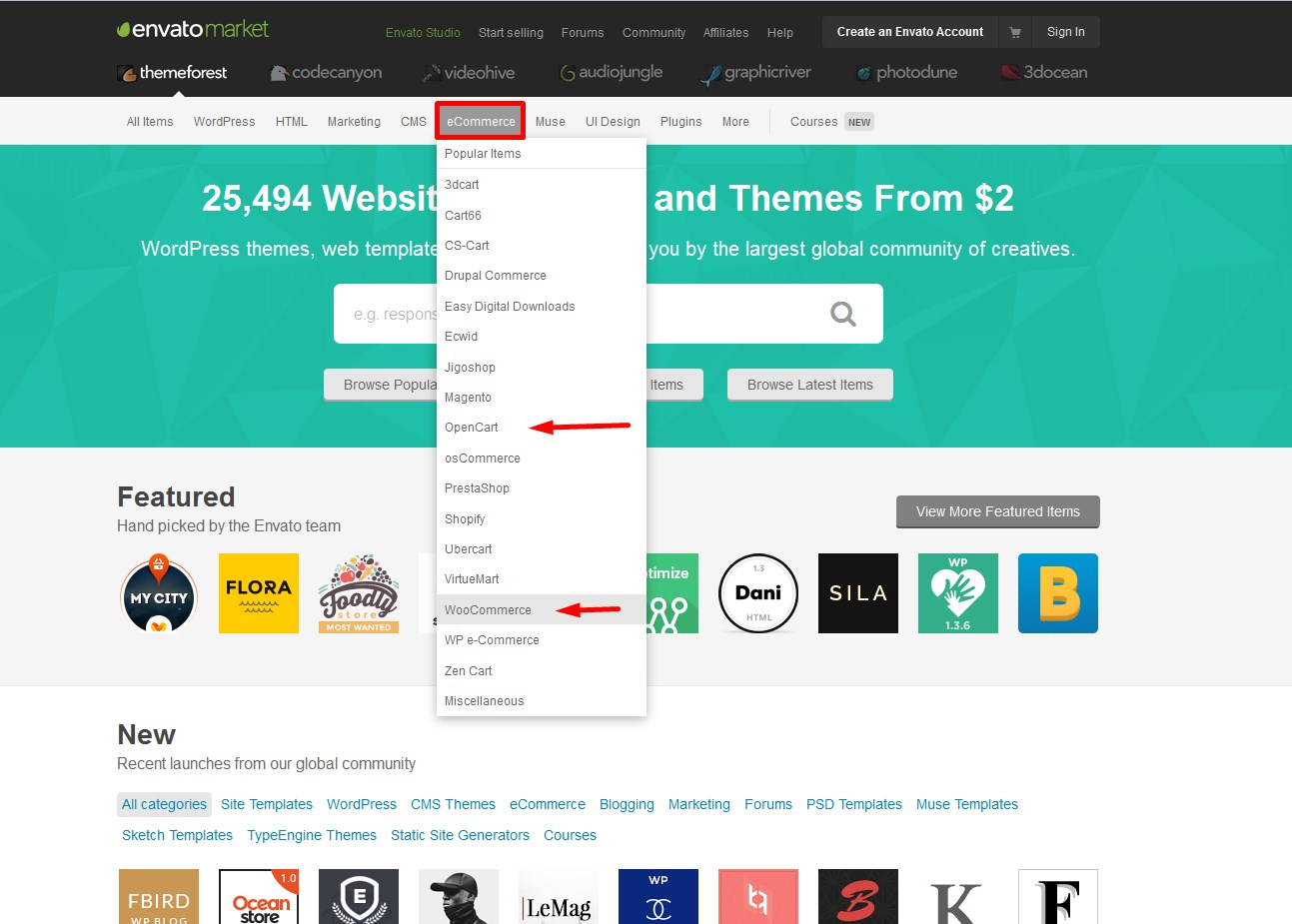 Где скачать темы для WordPress и OpenCart?