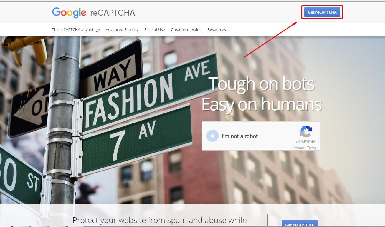 сайт Google reCAPTCHA
