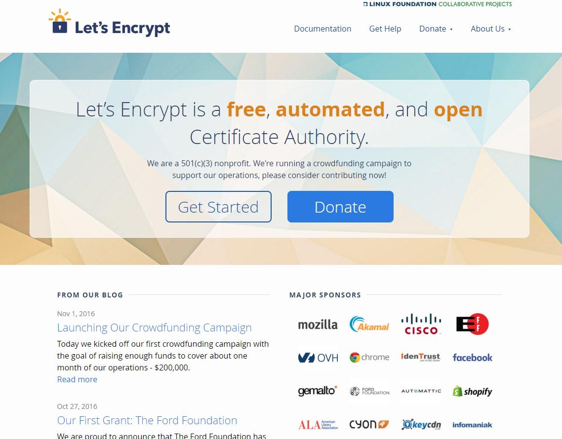 Бесплатный сертификат от Let's Encrypt