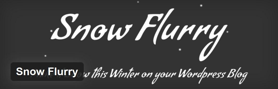плагин снега  «Snow Flurry»