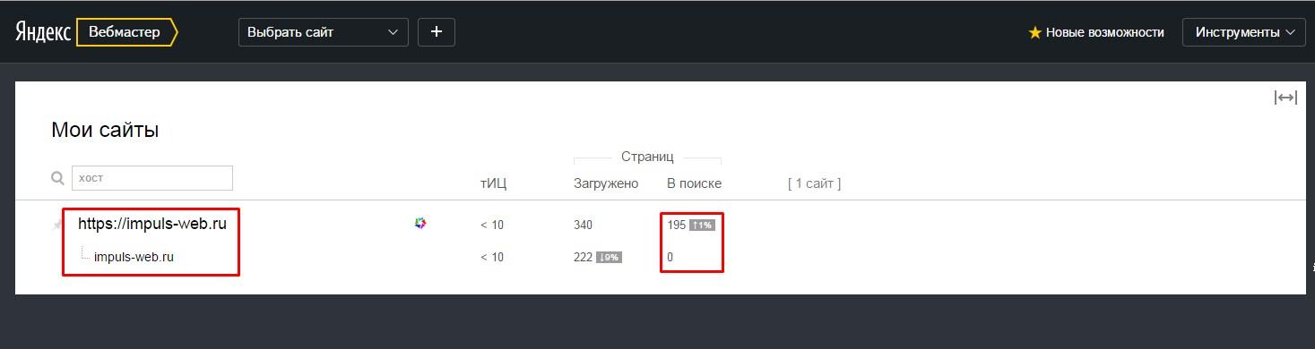 Результат перехода на SSL-сертификат