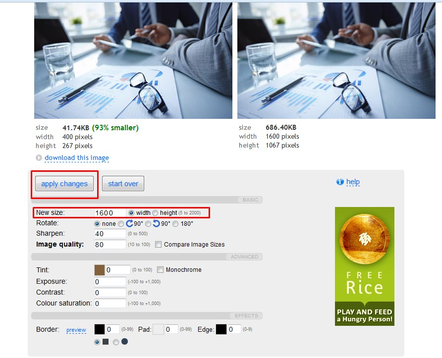 Оптимизация изображений для сайта онлайн