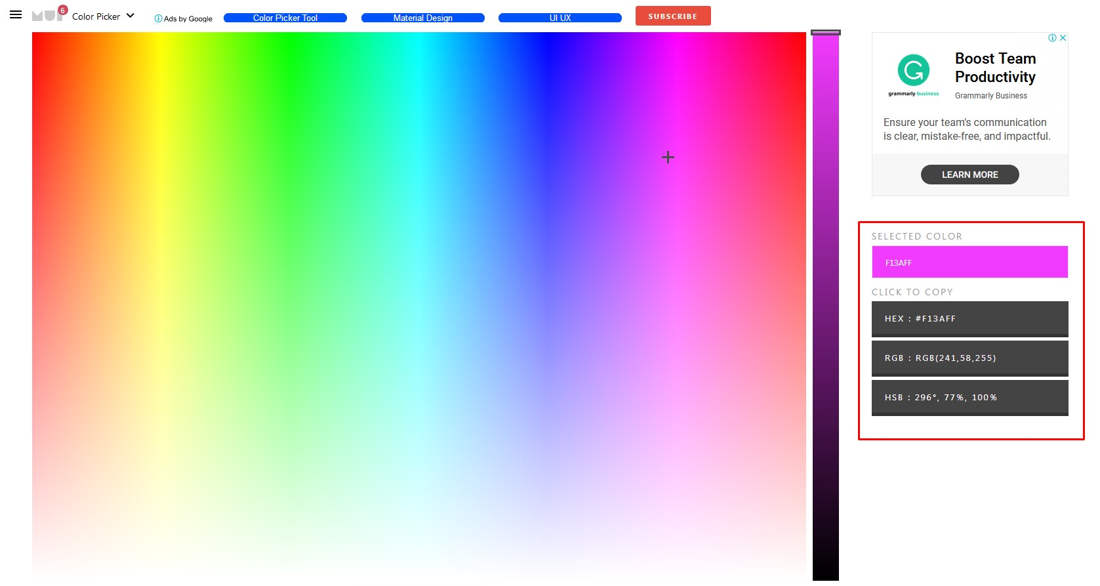 color online picker